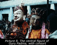 Picture 8. The central figure of Guru Padma, with consort
